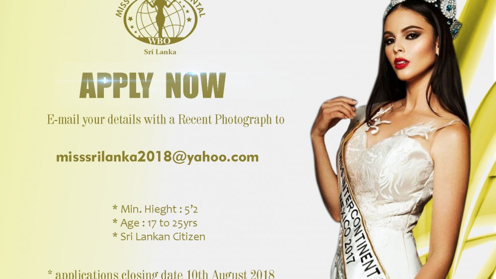 Apply now for miss Intercontinental 2018