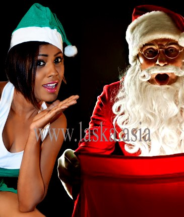 nilu with santa