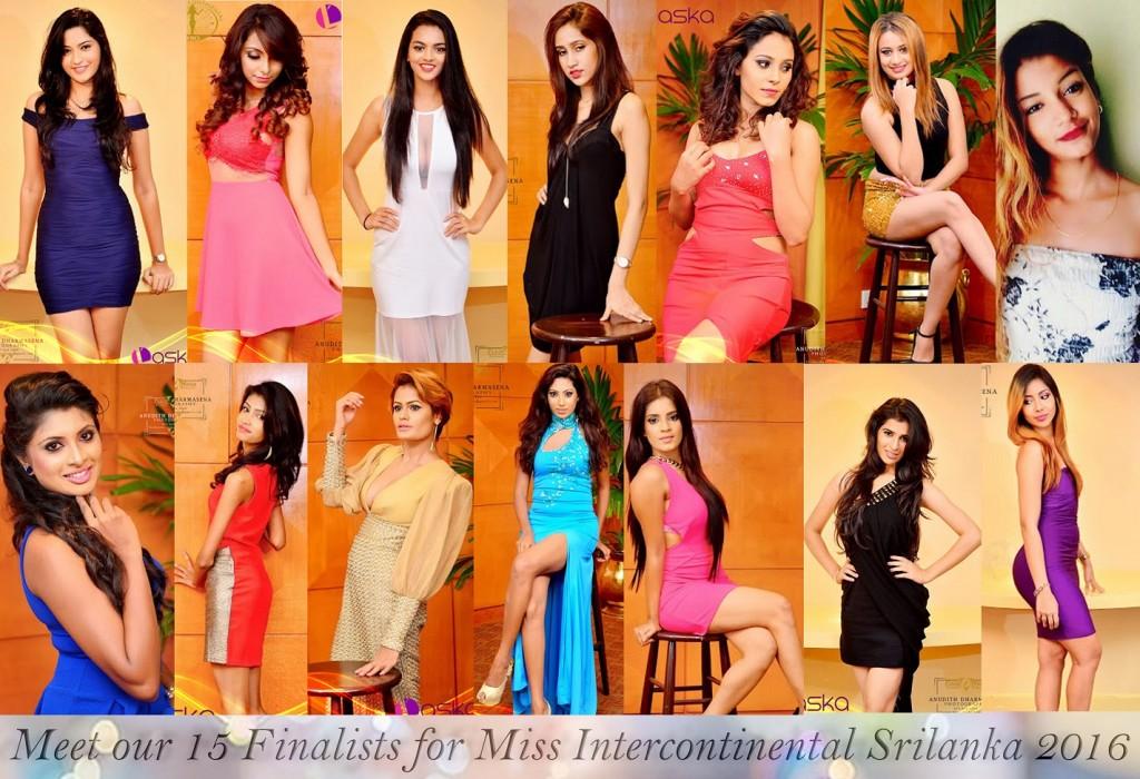 Miss Intercontinental Sri Lanka Finalists