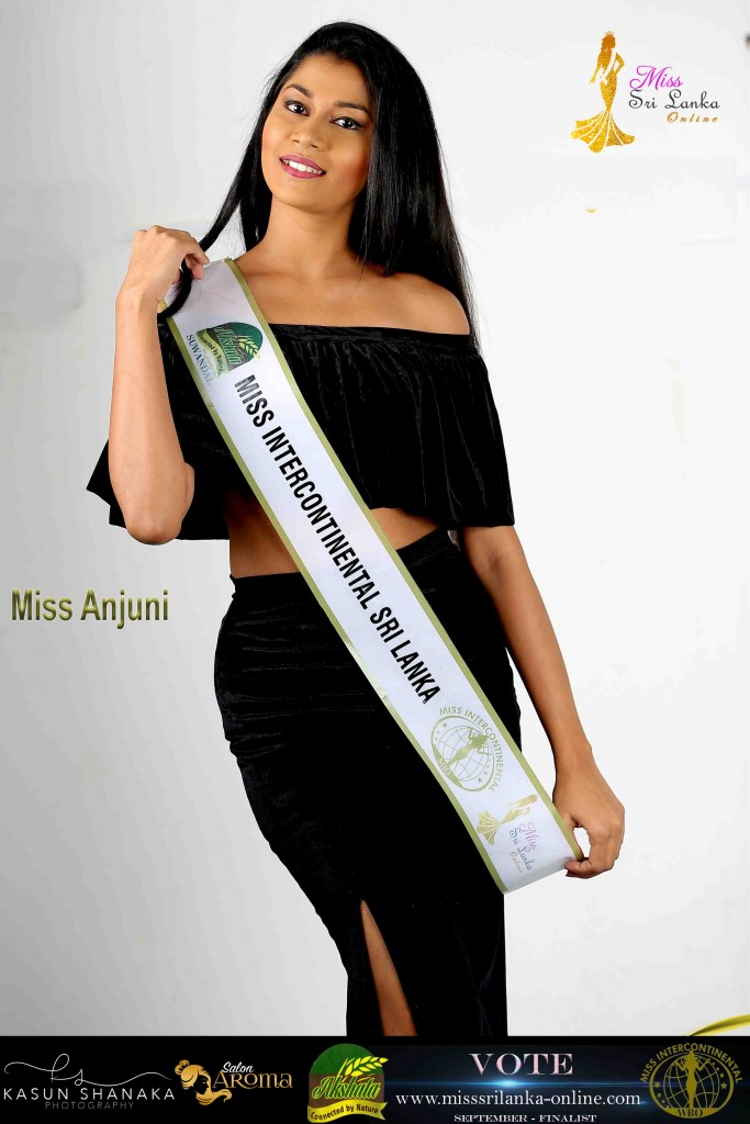 Anjuni -AKSHATA Miss Intercontinental Sri Lanka – September Finalist