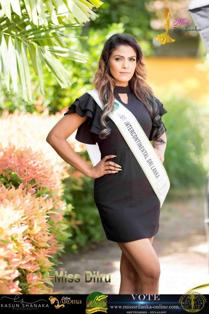 Dilru -AKSHATA Miss Intercontinental Sri Lanka – September Finalist