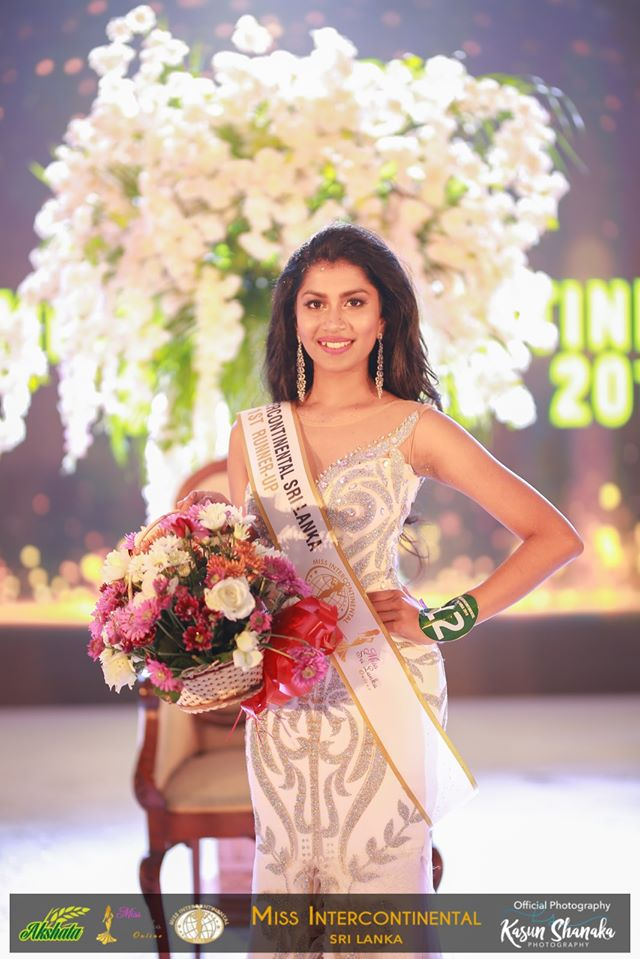Anjuni Hettiarachchi – 1st Runner-up – AKSHATA Suwandel Miss Intercontinental Sri Lanka 2019